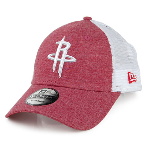 0cfa63196bdf2e New Era 9FORTY Houston Rockets Trucker Cap - NBA Summer League in red-white.  The cap features a heathered red front panel with the team logo embroidered  in ...